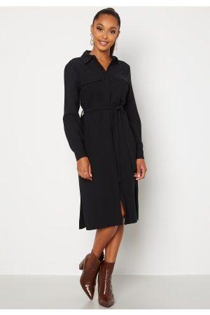 Happy Holly Alina shirt dress Black 36/38