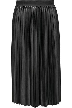 ONLY Curvy Pleated Midi Skirt Kvinna