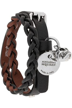 Alexander McQueen Man Armband - Flätat dubbelt armband