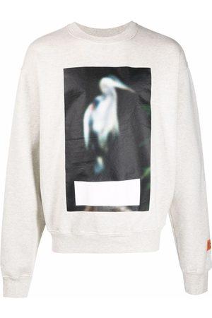 Heron Preston Man Sweatshirts - CREWNECK CENSORED HERON GREY MELANGE GRE