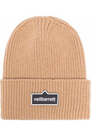 Neil Barrett Man Mössor - Logo-patch beanie