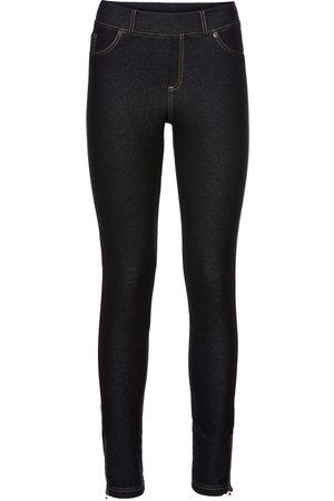 bonprix Jeggings i jeansdesign med dragkedja
