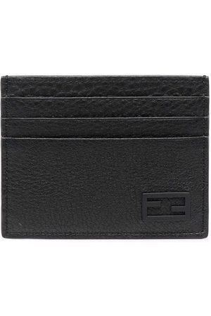 Fendi Man Plånböcker - FF textured-leather cardholder