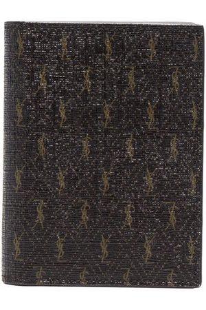 Saint Laurent Man Plånböcker - Monogram print leather wallet