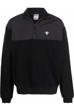 MARCELO BURLON Man Sweatshirts - Cross-motif panelled fleece