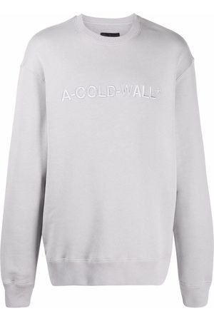 A-cold-wall* Logo-embroidered cotton sweatshirt
