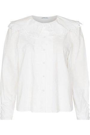 Designers Remix Skjorta - Sandra Lace Collar - Cream