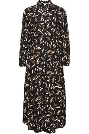 Object Kvinna Casual klänningar - Objlorena L/S Long Shirt Dress Dresses Shirt Dresses Multi/mönstrad