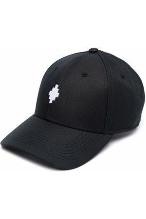 MARCELO BURLON Man Kepsar - CROSS BASEBALL CAP BLACK WHITE
