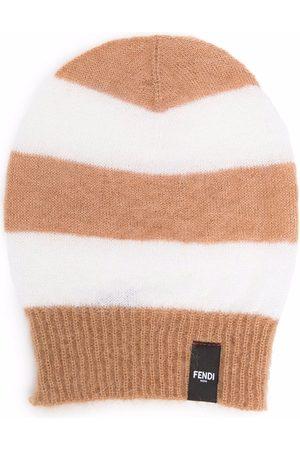 Fendi Man Hattar - Stripe pattern beanie hat