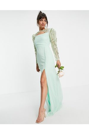 Virgos – Brudtärnor – Mintgrön klänning med långa ärmar- /a