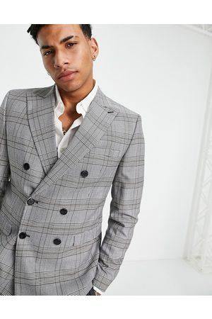SELECTED Man Kostymer - – Vitrutig, skinny kavaj, del av kostym- /a