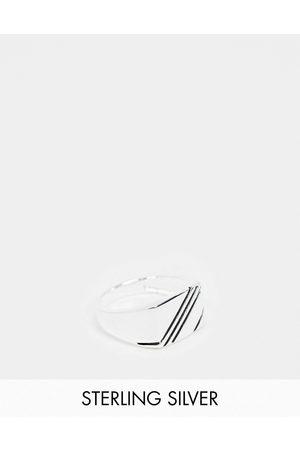 ASOS – Signetring i sterlingsilver med kontrasterande design