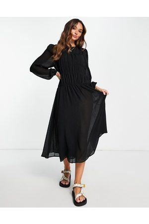 MANGO Kvinna Midiklänningar - – midiklänning med smock- /a