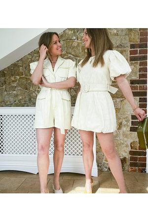 Labelrail Kvinna Jumpsuits - X Collyer Twins – Playsuit i cargostil med skärp-Naturlig