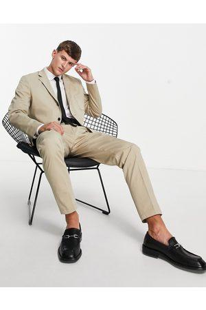 SELECTED – Beige kavaj med smal passform, del av kostym-Naturlig