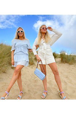 Labelrail Kvinna Shorts - Laberail x Olivia & Alice – Shorts med hög midja, skärp med spänne och uppvikt fåll- /a