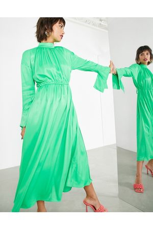 ASOS Kvinna Festklänningar - – maxiklänning i oversize med dragsko- /a