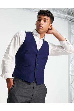 Burton Burton – Marinblå kostymväst med struktur och extra smal passform