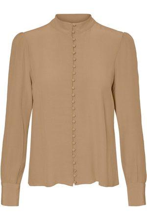 VERO MODA Kvinna Långärmade skjortor - Japaninspirerad Skjorta Kvinna