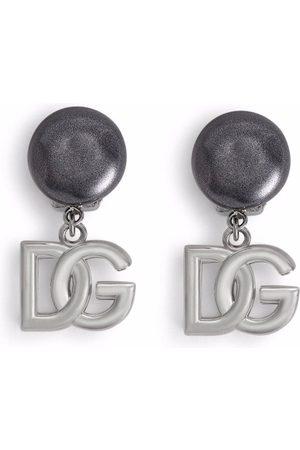 Dolce & Gabbana DG clipsörhängen med logotyp