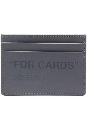 OFF-WHITE Man Plånböcker - Slogan-embossed slim cardholder