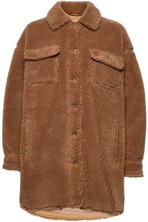 Stand Studio Sabi Jacket Outerwear Faux Fur Brun