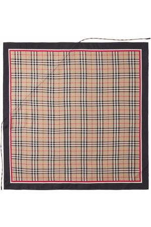 Burberry Sjalar - Drawcord Detail Vintage Check Silk Square Scarf