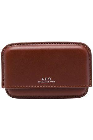 A.P.C. Man Plånböcker - Korthållare med präglad logotypstämpel