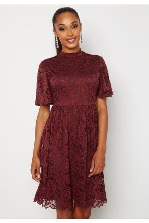 Happy Holly Kvinna Klänningar - Li lace dress Wine-red 50