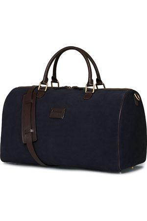Anderson's Boston Suede Weekendbag Navy/Brown