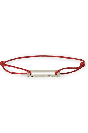 LE GRAMME Man Armband - Cord Bracelet Le 17/10 Red/Sterling Silver