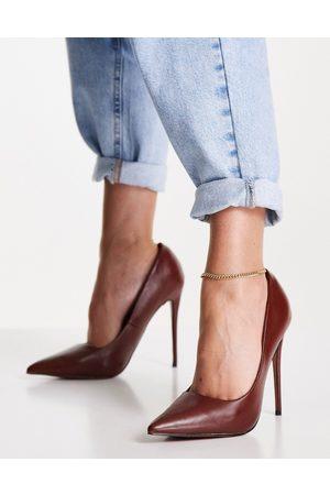 ASOS DESIGN – Passion – Bruna pumps med stilettklack