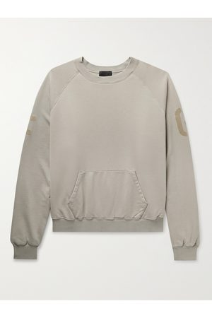 Fear of God Man Sweatshirts - Oversized Logo-Flocked Cotton-Jersey Sweatshirt