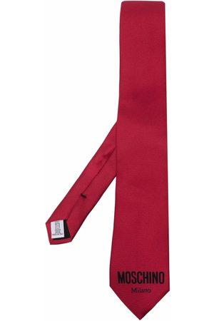 Moschino Logo-print silk tie