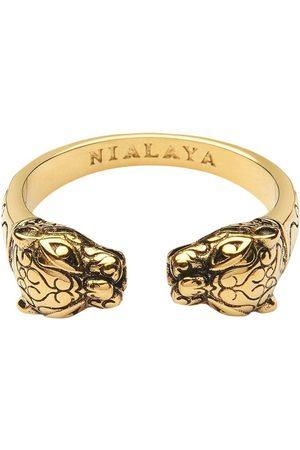 Nialaya Men's Gold Panther Ring