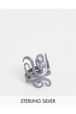 ASOS Man Ringar - – Ring med bläckfisk i sterlingsilver