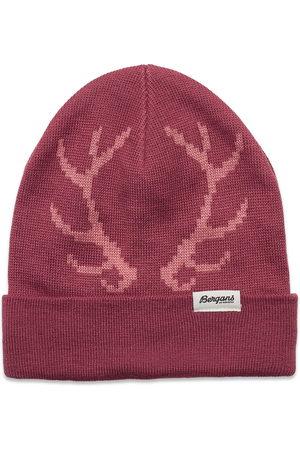 Bergans Antlers Kids Beanie Accessories Headwear Hats Rosa