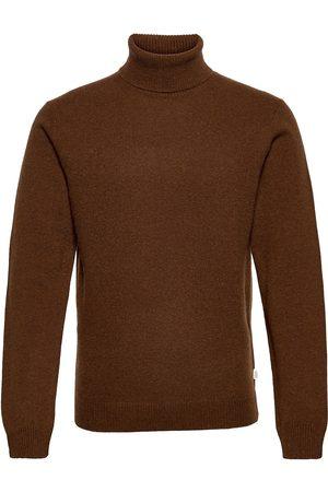 Casual Friday Karl Roll Neck Bounty Knit Knitwear Turtlenecks Brun