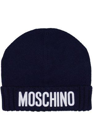 Moschino Mössa - Ull/Akryl - Marinblå