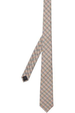 Burberry Man Slipsar - Rutig slips i jacquard