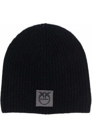 Pinko Ribbed knit cashmere beanie