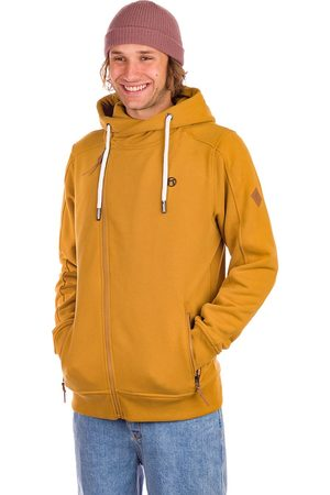 Kazane Man Hoodies - Arches Zip Hoodie golden brown
