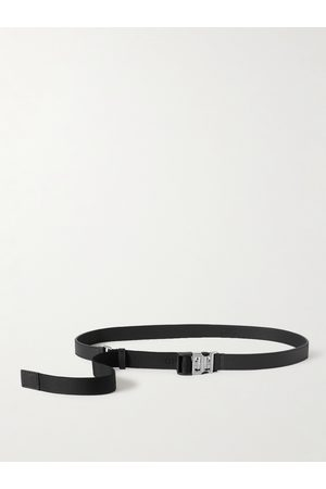 Givenchy 2.5cm Logo-Jacquard Canvas and Full-Grain Leather Belt