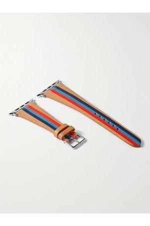 laCalifornienne Man Klockor - Thunder Striped Leather Watch Strap
