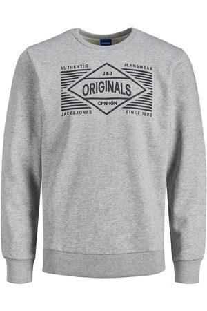 jack & jones Öglestickad Logotypförsedd Sweatshirt Man