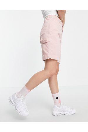 Kickers – Militärshorts med ficka och logga-Pink