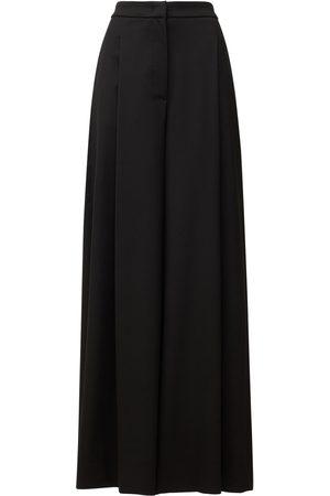LARDINI Kvinna Stretchbyxor - Duma Stretch Wool Blend Wide Pants