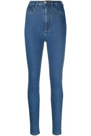 Philipp Plein Kvinna High-waist jeans - High-waist jegging jeans