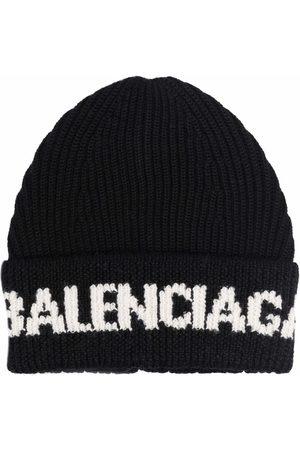 Balenciaga Man Hattar - Intarsia-logo beane